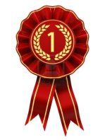 10944299-first-place--red-and-gold-rosette--isolated-on-white