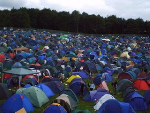 crowded camping