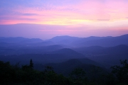 asheville at sunset