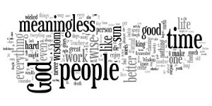 Ecclesiastes Word cloud