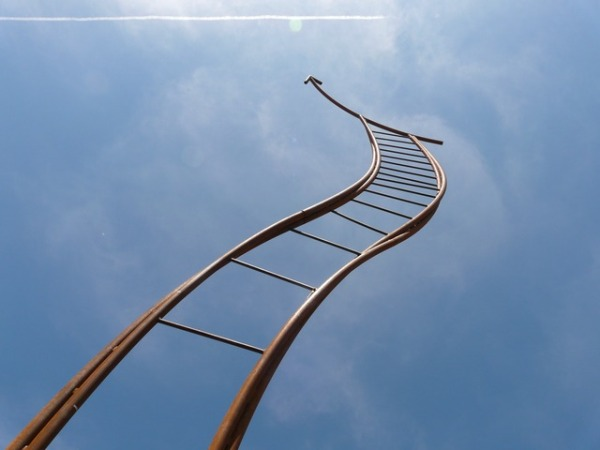 ladder-curved